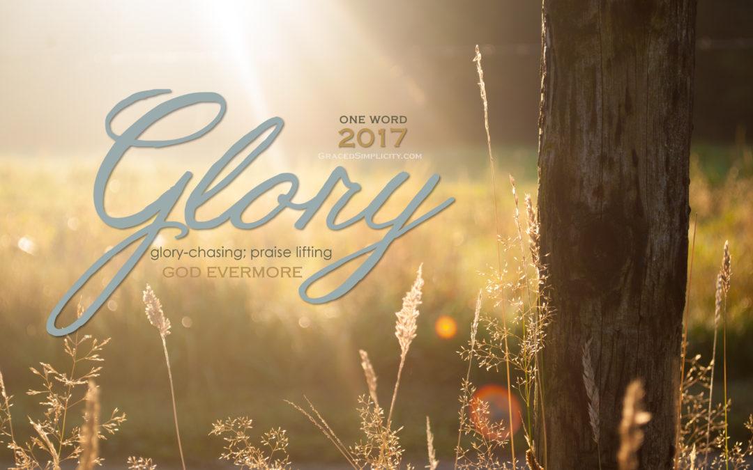glory-chasing; praise lifting